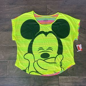 Disney Mickey Mouse Neon Color T-Shirt